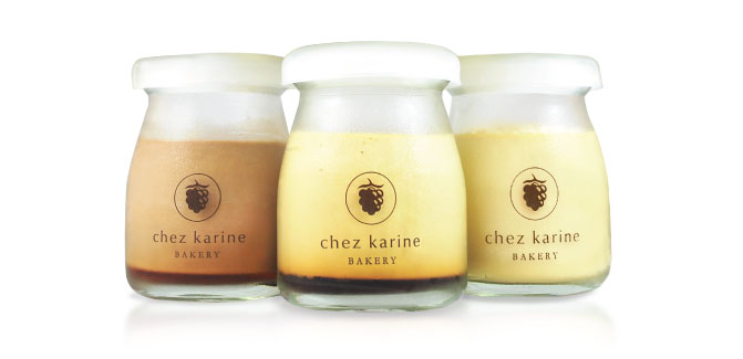 Royal Pudding at Chez Karine in three different flavors
