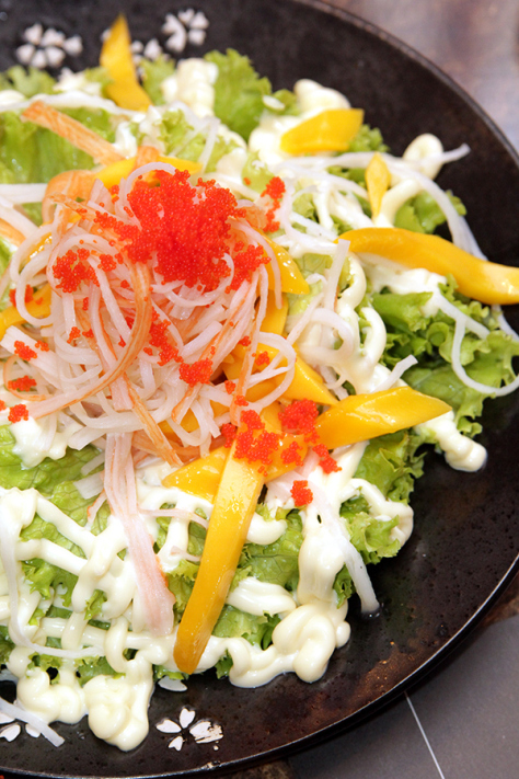 Kani Salad with crabsticks and mango. Buy Sandaya Yakiniku Gift Certificates and Gift Cards at Gifted.PH online for anyone in Manila Philippines