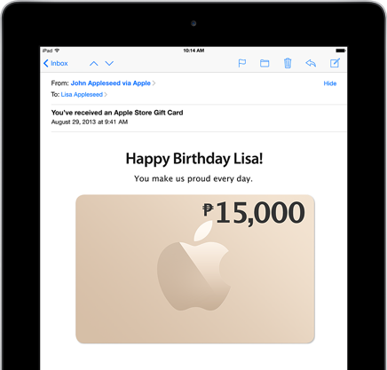 Apple Gift Certificate and Gift Card