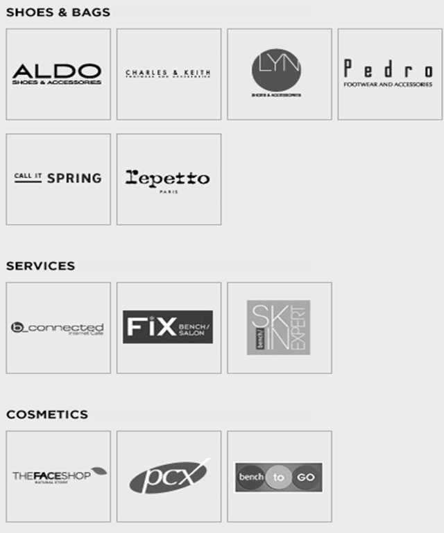 Shoe brands available with a Bench Gift certificate such as Aldo's, Charles and Keith, Pedro, Call it Spring. Buy Bench Gift Certificates and Gift Cards at Gifted.PH online for anyone in Manila Philippines.