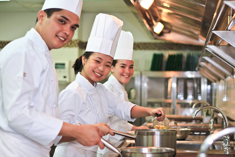 Enderun gift certificates can purchase short cooking courses such as these