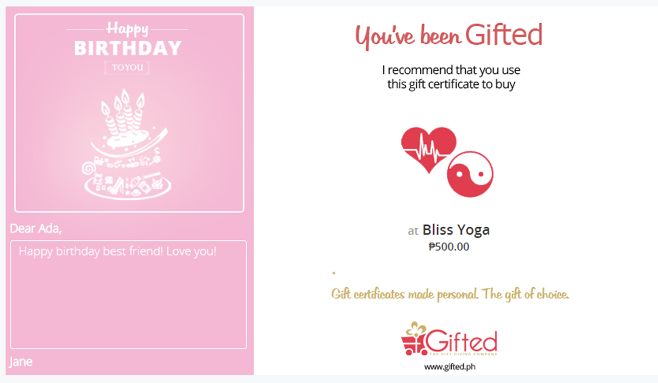 Happy Birthday Greeting Card Page at Gifted.PH. Choose a greeting card design to go with your gift certificate. Send to anyone in Manila and Philippines