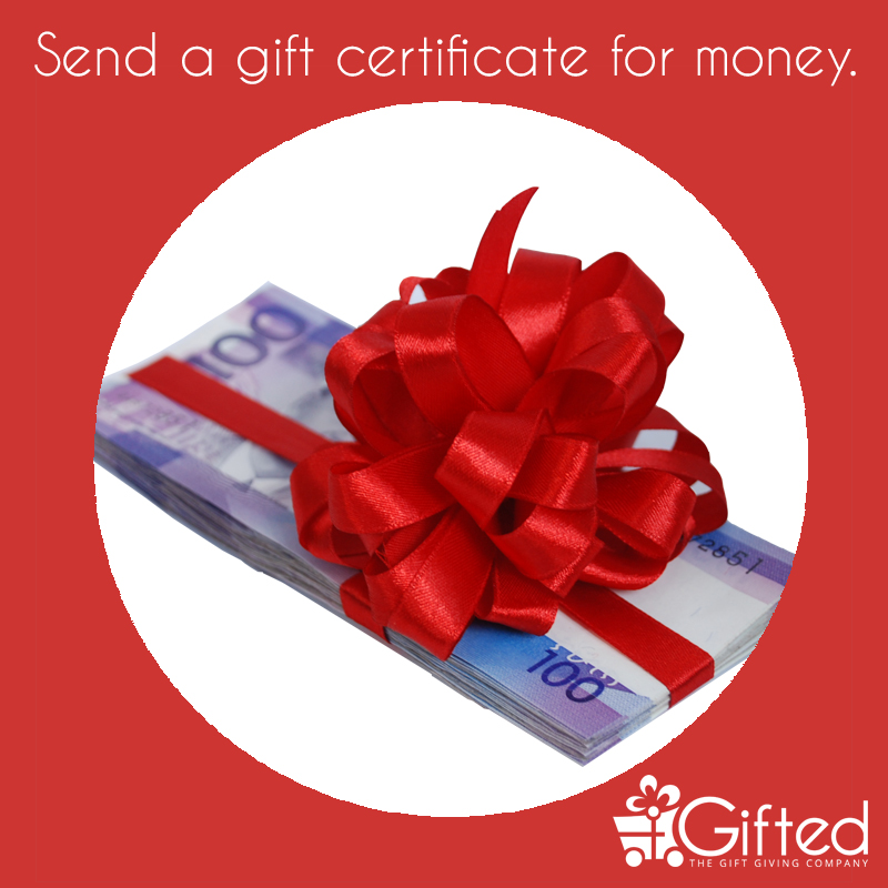 Gift certificates for money are deposited as cash into your bank account. A new way of giving money as gifts