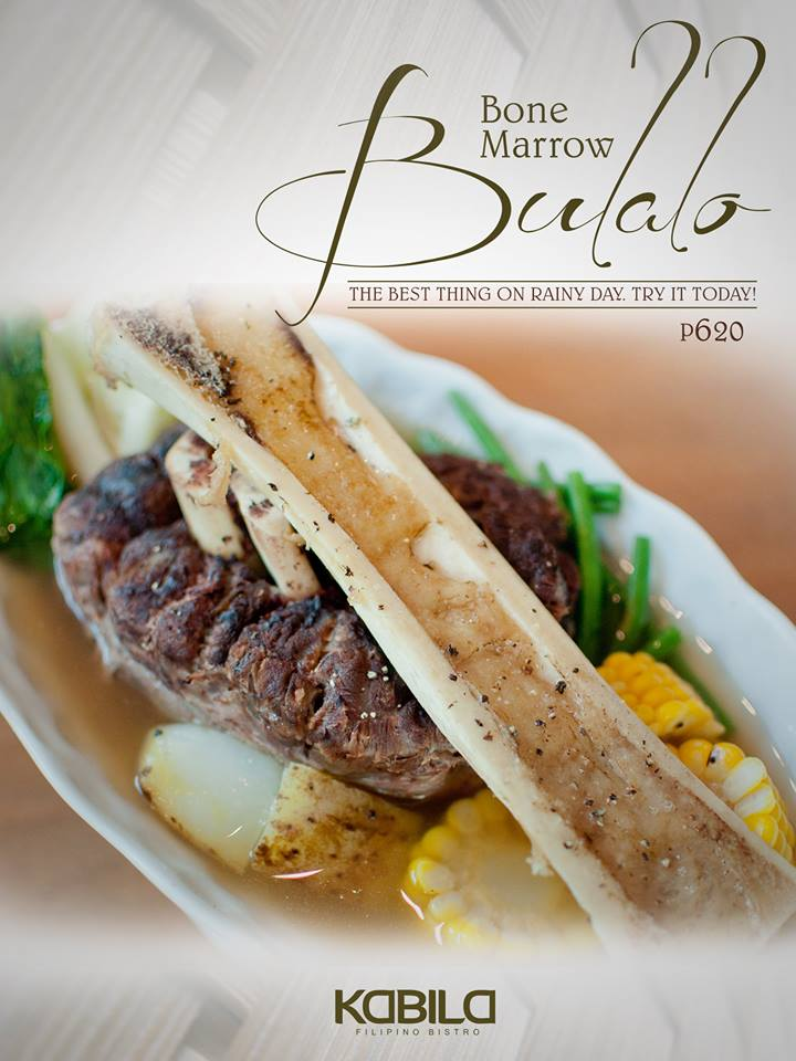 Bone Marrow Dish at Kabila Filipino Bistro. Buy this Restaurant Gift Certificate or Gift Card online at Gifted.PH. Send to anyone in Manila and Philippines