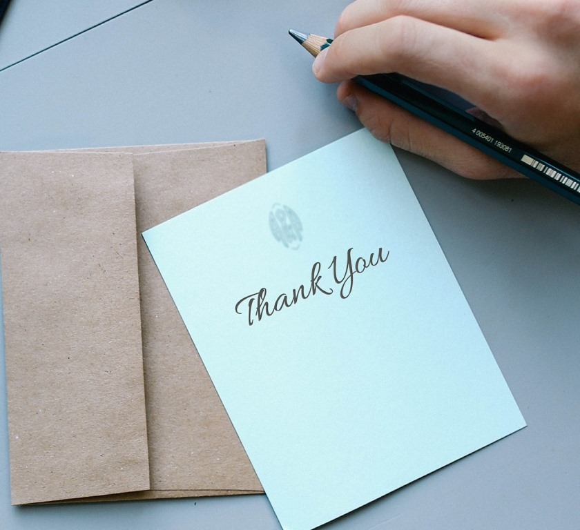 Thank you note on a gift tag - how to give better gifts.