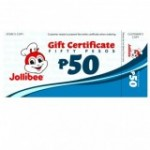 Jollibee Gift Certificate PHP 50