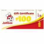 Jollibee Gift Certificate PHP 100